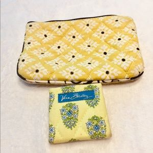 Vera Bradley Combo -  Small Make-up Bag and Mirror